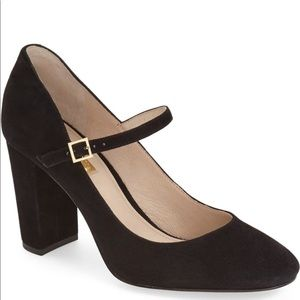 Louise et Cie Black Suede Block Heel Pumps